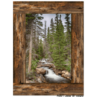 mountain stream window view
