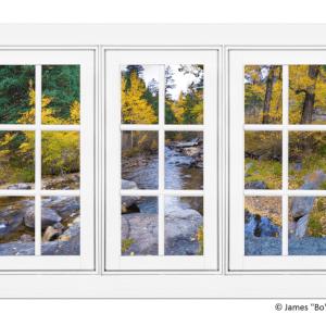 creek window views