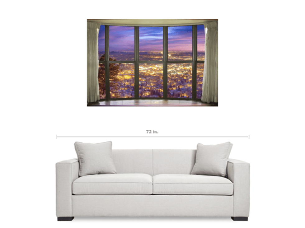 City Lights Bay Window View Art