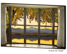 mountain lake bay window views