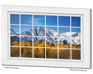 Window views rocky mountains