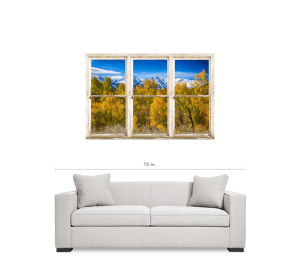 Independence Pass Autumn White Peeling Window View Canvas Art