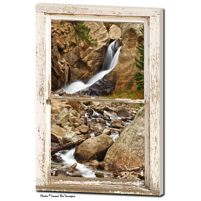 waterfall window view  art