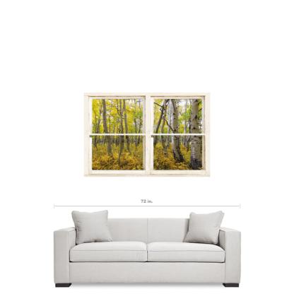 Glorious Golden Forest Window View 32″x48″x1.25″ Premium Canvas Wrap Art