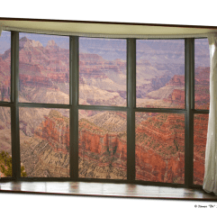 Grand Canyon North Rim Bay Window View Art 32″x48″x1.25″ Premium Canvas Gallery Wrap