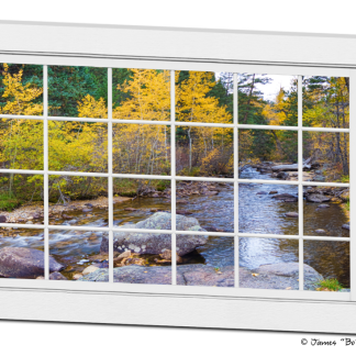 Special Place In The Woods Large White Picture Window View Art 32″x48″x1.25″ Premium Canvas Wrap