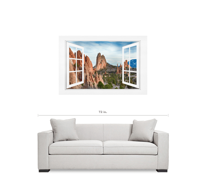 Garden Of The Gods Open 12 Pane White Picture Window Frame View 32