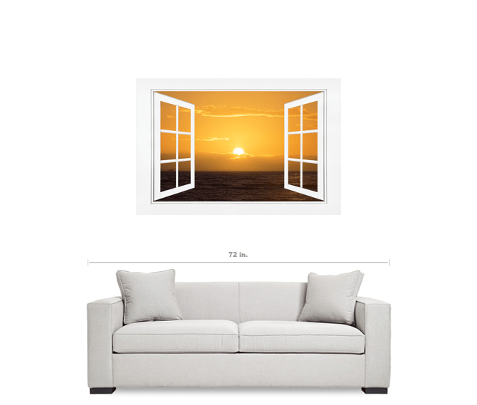 window frame art