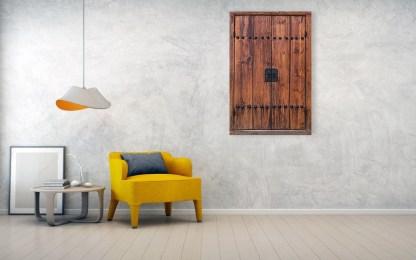Door of Bukchon Hanok Village Seoul South Korea Wall Art 32×48 Premium Canvas Gallery Wrap