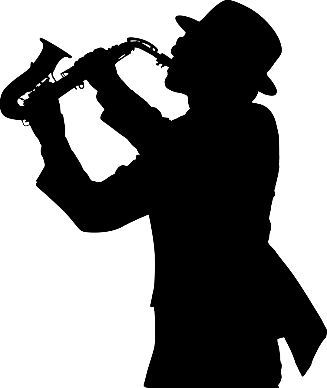 Famous Musician Silhouette