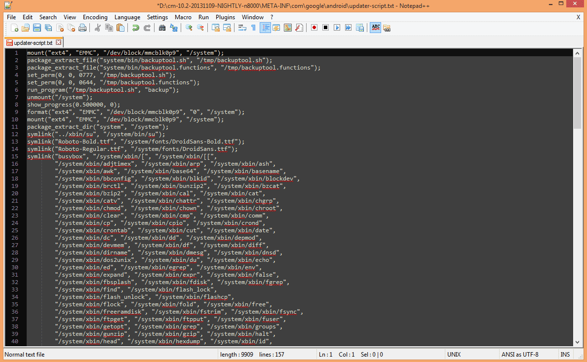 Código modificado error Status 7