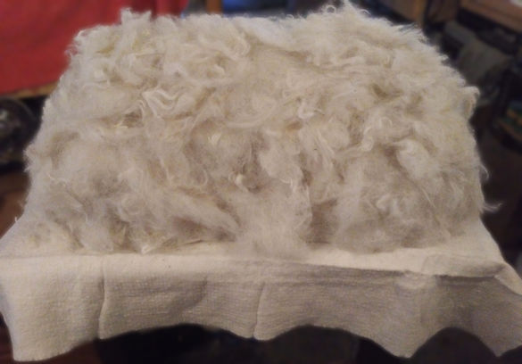 Combed wool.