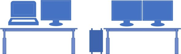 A dual monitor arrangement is great for instructor online classes