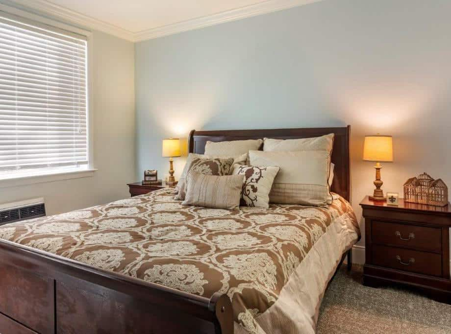 assisted living senior apartment bedroom
