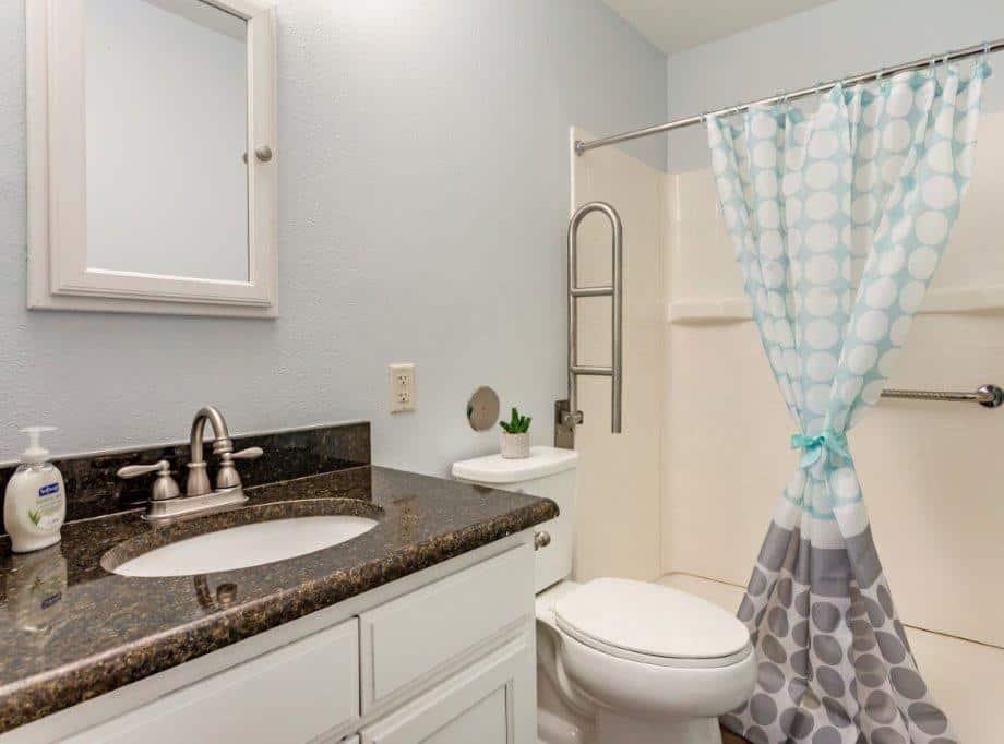 assisted living senior apartment bathroom