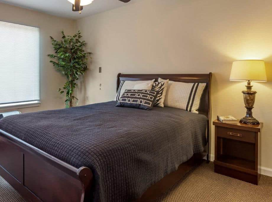 independent living senior apartment bedroom