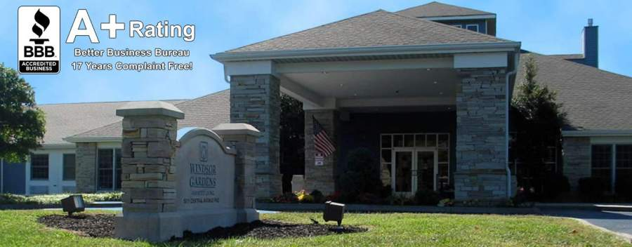 Windsor Gardens Assisted Living is a Better Business Bureau Accredited Business with an A+ rating, and no complaints!