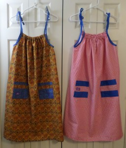 My first two dresses.