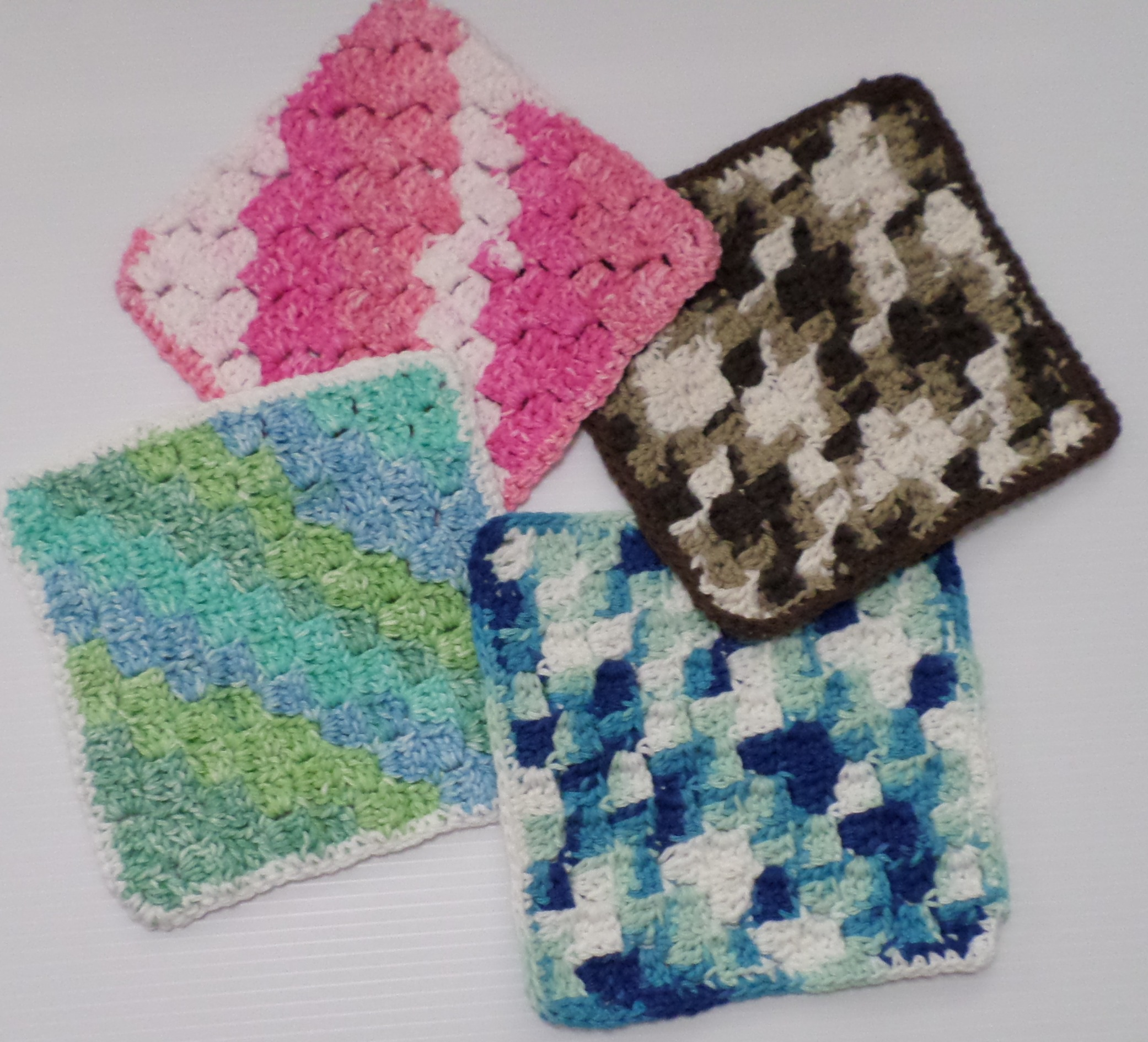 Free Crochet Dishcloth Pattern Diagonal Block Stitch Windswept Mind
