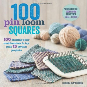 A 3-star book, 100 Pin Loom Squares does not provide 100 weaving patterns nor 100 unique color combinations, so its title is misleading and the book is something of a disappointment.