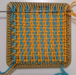 Weaving Layer 1, row 15 (of 16).