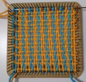 Weaving layer 1, row 16.