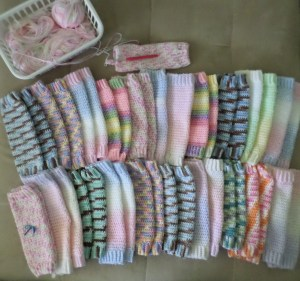 June 2014--I donated 21 pairs of leg warmers.