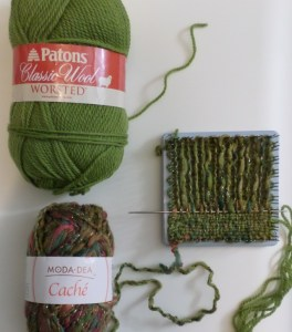Sample one: one size 4 and one size 5 yarn