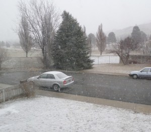 Not that I'm wild about snow and ice, but I like cool temperatures. Falling snow is a sure visual it's cold outside.