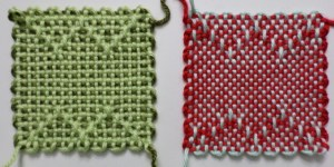 Loomette Weaves 14, variations I and II, front view