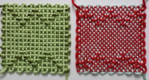 Loomette Weaves 14, variations I and II, back view