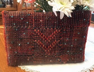 Laura Sapko's beaded purse--back view