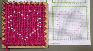Arranging the beads semi-correctly can be really helpful during the weaving, but don't depend on their placement. Check the chart!