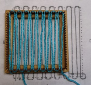 Layer 1 starts at Cr1--where the slit for securing your yarn is.