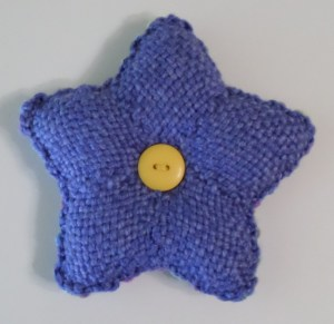 Star cushion--purple side.