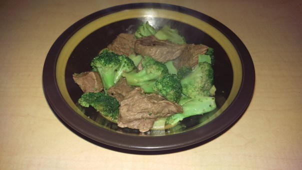Beef and broccoli by a non-cook