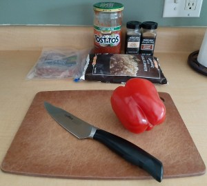 Ingredients for Mexican beef