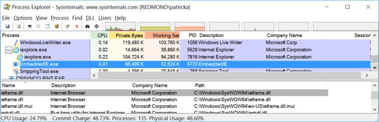 Al usar Aplicaciones como Live Writer, se usa también Internet Explorer así no se ejecute directamente el navegador
