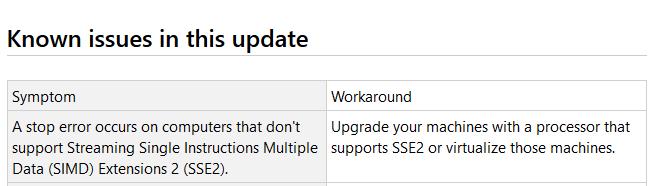SSE2 Windows 7