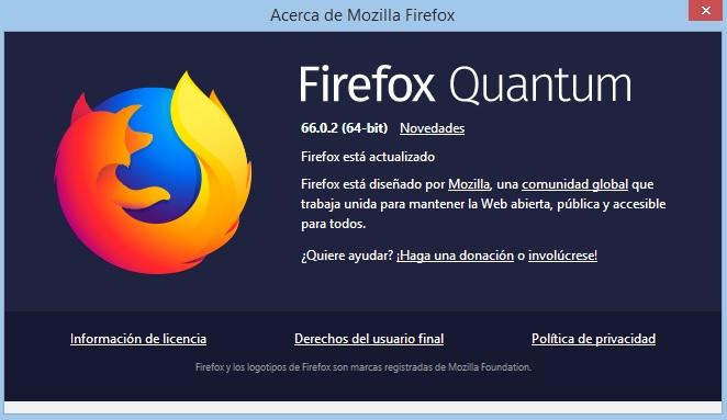 Firefox Quantum 66.0.2