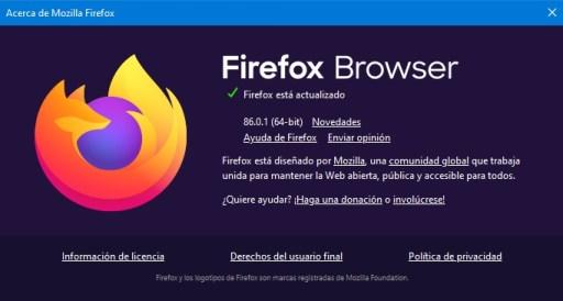 firefox browser 86.0.1