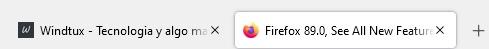 pestañas flotantes firefox browser 89