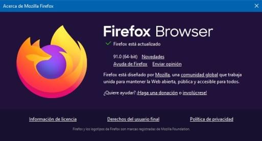 firefox browser 91