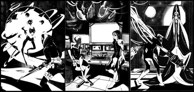 Ilustraciones interiores de La simiente de la Esquirla, por Luc Cerverón