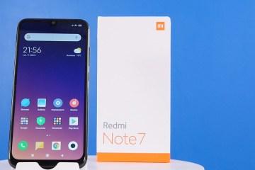 Xiaomi Redmi Note 7 con scatola