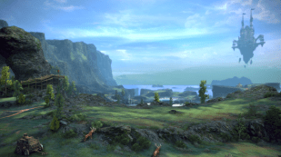 Scenery with Sky Castle in Distance