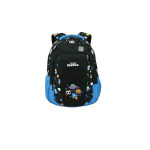 Smily kiddos   Smily Dual Color Backpack Space Theme (Black) 15 Ltrs Water Resistance Backpack   Kids Backpack   School Backpack   Backpack for Boys and Girls