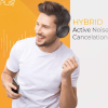 Play PlayGo BH70 Hybrid Active Noise Cancelling Headphones with AI Golden Curve, 30 Hours Battery (Graphite Gray)