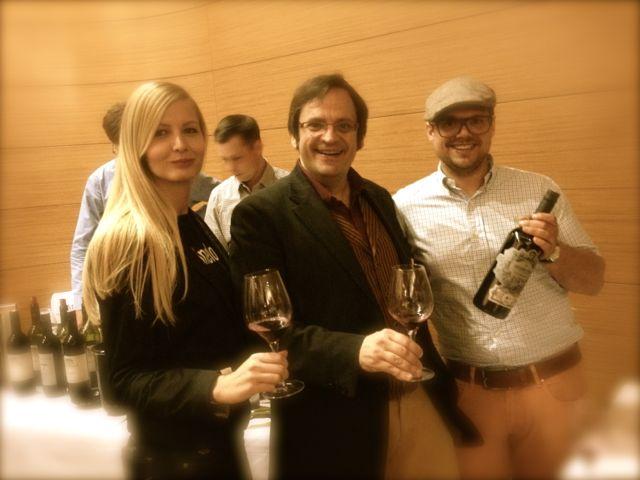 Enjoying wine in Hungary
