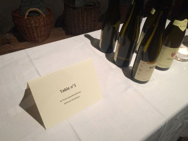 Tasting according to terroir